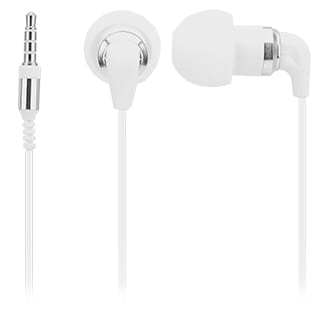 Ultra Pro: Stereo Buds with In-Line Mic & Case - White