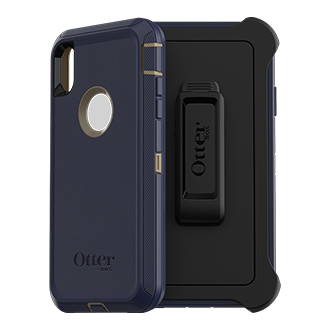 Otterbox Defender Series Case For iPhone XS Max - Dark Lake Rugged, Unbeatable Protection, Otterbox Defender Is Engineered To Provide Multi-Layered Defense. Each Layer Works Together To Provide The Ultimate Drop, Scratch And Dirt Protection. This Screenless Case Is Ready To Type, Tap And Swipe With Direct Access To Your Screen And Can Be Paired With Additional Screen Protection For Enhanced Protection. The Foam Buffer, Inner Shell And Outer Slipcover Help Absorb The Impact Of Drops, Bumps, And Other Shock. Port Plugs Allow For Easy Access While Keeping Out Dust And Debris. The Included Holster Works As A Belt Clip And A Hands-Free Kickstand.