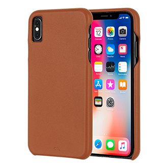 Case-Mate Barely There Leather Case For iPhone XS Max - Brown Think Thin With The Original Slim Case. The Barely There Case Forms A Classic And Protective Design That Shows Off The Slim Profile Of Your Device. The Impact Resistant Hard Shell Covers The Back And Sides, While The Lay-Flat Feature Protects The Front Of Your Device By Extending The Bezel Above The Screen.