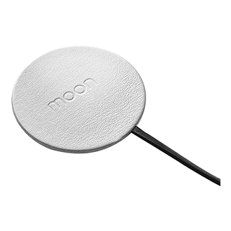 Wireless Traveler Moon Wireless Charger - White Leather