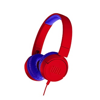 JBL Jr 300 Wired Headphones - Red