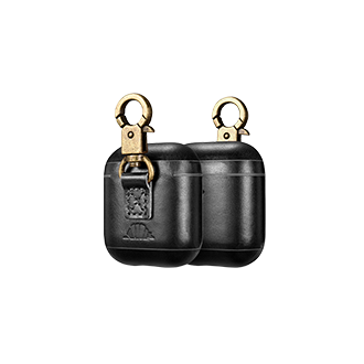 intelliARMOR AirPods Leather Case - Black