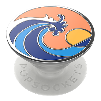 PopSockets PopGrip - Enamel Ride the Wave Coral