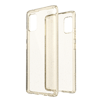 Speck Presidio Exo Tech Clear Case for Samsung Galaxy A71 - Gold Glitter