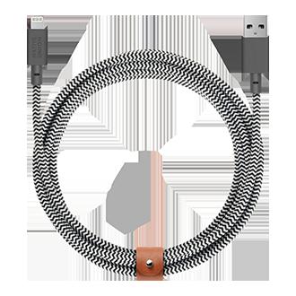 Native Union USB-A to Lightning Cable, 10ft - Zebra