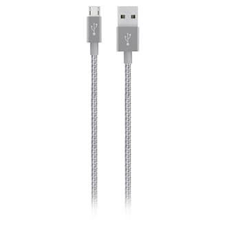 Belkin Metallic Micro-USB Cable - 10 ft - Grey