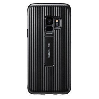 Samsung Protective Standing Cover For Samsung Galaxy S9 - Black The Samsung Protective Standing Cover Protects Your Case As Well As Adds Function. The Kickstand Allows For Optimized Viewing Angles And When Not In Use Is Hidden. Military Standard Drop Tested So You Know Your Phone Is In Good Hands!