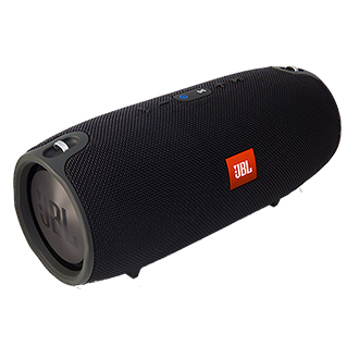 Jbl Xtreme Bluetooth Speaker - Black Jbl Xtreme Is The Ultimate Portable Bluetooth Speaker That Effortlessly Delivers Earth-Shaking, Powerful Stereo Sound By Incorporating Four Active Transducers And Two Visible Jbl Bass Radiators. Packing A Massive Rechargeable 10,000mah Li-Ion Battery That Supports Up To 15 Hours Of Playtime And Dual Usb Charge Out, This Speaker Easily Keeps Your Music And Your Devices Going For As Long As You Need Them To. You Can Trust Jbl Xtreme To Bring The Excitement Wherever You Need It – Whether Indoors Or Outdoors, Poolside Party Or Backyard Barbeque -With Its Splashproof Fabric Design That's Available In Black, Blue, Or Red. It Also Features A Noise And Echo Cancelling Speakerphone For Clear Conference Calls, And Jbl Connect That Can Wirelessly Link Multiple Jbl Connect Enabled Speakers Together To Amplify The Listening Experience.