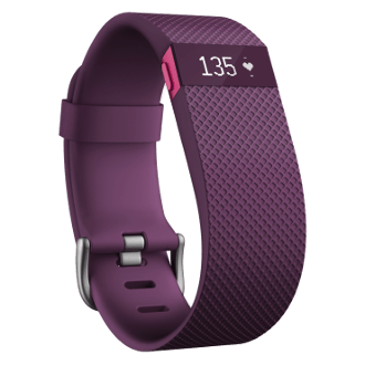 Fitbit Charge HR Wireless Activity Wristband, Large - Plum