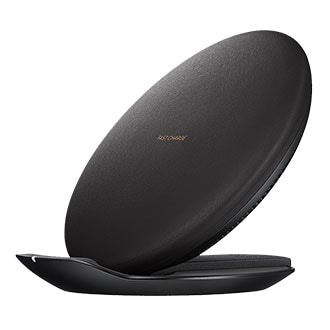Samsung Convertible Fast Charge Wireless Charging Stand - Black Charge Your Qi Wireless Charging Enabled Device Without Connecting The Device To A Port Or Cable. Simply Place The Back Of Your Phone On The Wireless Charger And Wait For The Charging Notification To Appear. A Unique Design Enables Switching Between Using The Wireless Charger As A Charging Pad Or Stand. The Premium Leather-Like Material Blends Seamlessly Into Your Home Decor.