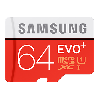 Samsung EVO Plus 64GB MicroSD Memory Card w/Adapter