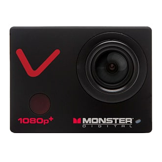 """Monster Digital Vision Hd Plus Action Sports Camera The Vision 1080p Plus Is The Top-Of-The-Line Camera In Monster Digital's Action Sports Series. Don't Compromise! Capture The Most Extreme Video Action Up To 1080p At 60 Frames Per Second While Simultaneously Taking Up To 12mp Photos. Control Your Camera With The Included App. Instantly Share The Footage On The Built-In 2"""" Lcd Screen With Your Friends On The Slopes Or Save To Your Smartphone And Share Online With Your Followers. With The Included 15 Mounts, Accessories And A 16gb Memory Card, You're Ready-To-Go Without Any Additional Purchase. You Get A Dustproof And Waterproof Case, A Curved Quick-Release Mount For Your Helmet, A Flat Quick Release Mount For Your Board, A Handlebar Mount For Your Bike And A Suction Cup Mount For Your Dashboard So You Are Ready To Race, Shred, Carve, Dive, And Drop."""