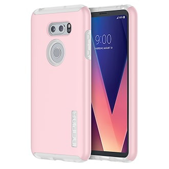 Lg V30 Incipio Dualpro Case - Rose Quartz & Frost Tough Protection In A Slim Case That Feels Good In Your Hand. Lightweight Frame Reduces Impact And Prevents Scratches. Shock-Reducing Inner Core Helps Guard Against Heavy Use, And Won't Stretch Or Tear. Soft-Touch Finish Provides A Comfortable Grip.