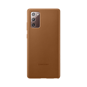 Samsung Leather Case for Samsung Galaxy Note20 5G - Brown