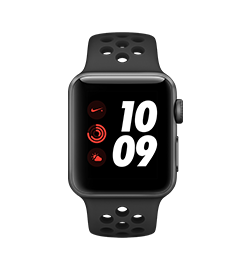 Watch Nike+ 38mm - Space Gray - Black Band Two Of The World's Most Innovative Brands Have Taken Their Long-Running Partnership Even Further. With All The Powerful Features Of Series 3, Including Built-In Cellular, Apple Watch Nike+ Now Lets You Train With In-Ear Coaching, Stream Your Favorite Songs, And Receive Notifications—even When You Don't Have Your Phone. The Perfect Running Partner Just Got Better.