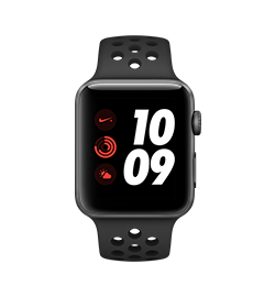 Watch Nike+ 42mm - Space Gray - Black Band Two Of The World's Most Innovative Brands Have Taken Their Long-Running Partnership Even Further. With All The Powerful Features Of Series 3, Including Built-In Cellular, Apple Watch Nike+ Now Lets You Train With In-Ear Coaching, Stream Your Favorite Songs, And Receive Notifications—even When You Don't Have Your Phone. The Perfect Running Partner Just Got Better.