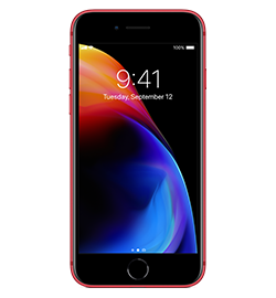 iPhone 8 - (product)red Special Edition - 64gb iPhone 8 Features An All-Glass Design And An Aerospace-Grade Aluminum Band. Charges Wirelessly. Resists Water And Dust.2 4.7-Inch Retina Hd Display With True Tone. 12mp Camera With An Advanced Image Signal Processor. Powered By The A11 Bionic Chip. Supports Augmented Reality Experiences In Games And Apps. And With Ios 12—the Most Advanced Mobile Operating System—you'll Have Powerful New Tools That Make iPhone More Personal Than Ever. Check It Out Device Purchase Requires A Sim Starter Kit Which Will Be Added To Your Order Automatically.